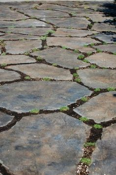 concrete stained to look like rock!!! Great way to re-purpose old concrete in a gorgeous way