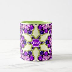 EVIE  Personalized Vintage Costume Jewellery  Two-Tone Coffee Mug - cyo diy customize unique design gift idea