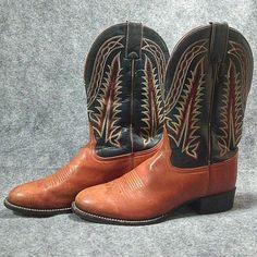 c8cb0a9080a477 Details about Tony Lama Western Boots Size 8 1 2 B Men s
