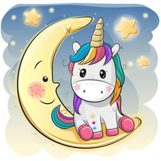 Cute Cartoon Unicorn in a pilot hat is sitting on the moon cartoon kawaii Cute Cartoon Einicorn in einem Piloten, Stock-Vektorgrafik (Lizenzfrei) 1140120110 Cartoon Cartoon, Moon Cartoon, Cartoon Unicorn, Unicorn Drawing, Unicorn Art, Cute Unicorn, Unicorn Painting, Unicorn Crafts, Cartoon Mignon