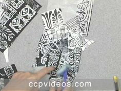 ▶ Collage: Paper, Patterns & Glazing with Anne Bagby - YouTube
