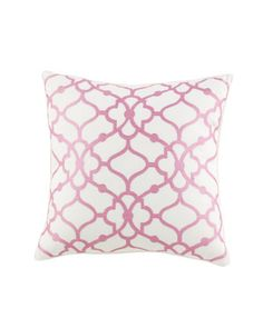 """Embroidered+Trellis+Pillow,+16""""Sq.+by+Dena+Home+at+Horchow."""