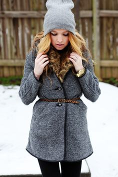 love this look. texture mash-up and a splash of leopard print. she's genius. can you tell im craving winter in summer?