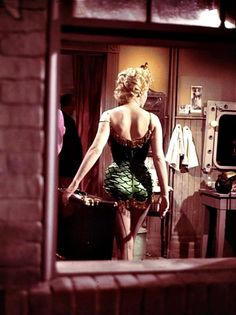 Marilyn on the set of Bus Stop. Photo by Milton Greene, 1956.