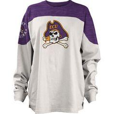 Three Squared Juniors' East Carolina University Cannondale Long Sleeve T-shirt (Purple, Size Medium) - NCAA Licensed Product, NCAA Women's at Acade...