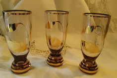 Vintage Set of 3 Small Sipping Glasses by LittleBitsBazaar on Etsy