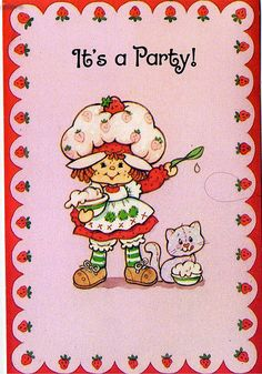 Strawberry Shortcake Characters, Vintage Strawberry Shortcake Dolls, Vintage Cartoon, Vintage Art, Dibujos Cute, Indie, Retro Wallpaper, Photo Wall Collage, Cultura Pop