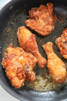 Honey Butter Fried Chicken – Cooked by Julie (with video) This easy honey butter fried chicken recipe will knock yours and your families socks off! Enjoy this crispy fried chicken with some butter biscuits! Fried Chicken Seasoning, Crispy Fried Chicken, Fried Chicken Recipes, Baked Chicken, Fried Steak, Recipe Chicken, Kentucky Fried Chicken Biscuit Recipe, Chicken Eating, Turkey Recipes
