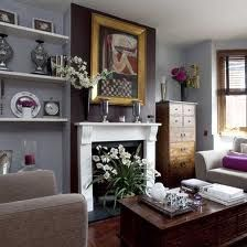 Sue Graemes Eclectic Victorian Townhouse Dark grey walls Taupe
