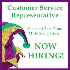 Customer Service Representative, Mobile Alabama, Mardi Gras Party, Job Opening, Party Supplies, Seasons, Link, Party Items, Seasons Of The Year