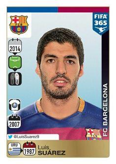 Luis Suárez - Barcelona FC - Panini 365: Gold Sticker 2015-2016