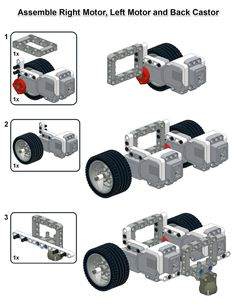 This is my simple EV3 robot design.  It is very quick to build, uses very few pieces and has inter...