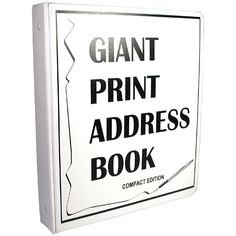 Compact Edition Giant Print Address Book for Low Vision - Large Print Address Books - MaxiAids