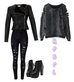 REBEL by mervesavran on Polyvore featuring polyvore fashion style Temperley London clothing
