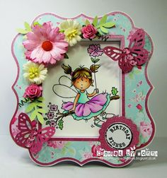 LOTV - May Fairy with : Romance & Roses Paper Pad and Greetings Postmarks by Donna Mosley