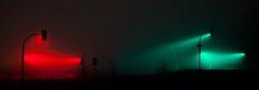 Beautiful Long Exposure Shots Of Traffic Lights Caught In A Fog - DesignTAXI.com