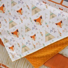 Looking for fox baby decor? We offer a variety of fox crib bedding, nursery decor and more. Fox Themed Nursery, Fox Nursery, Nursery Neutral, Nursery Themes, Woodland Nursery, Nursery Decor, Nursery Ideas, Fox Decor, Baby Decor