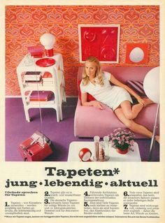 Tapetenwerbung der Sechziger: Zeitreise durch die Designgeschichte
