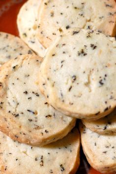 Cookie - Earl Grey Shortbread Cookies Recipe -  these would be great with a cup of tea