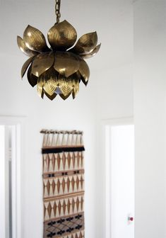 brass lotus chandelier! (swoon)