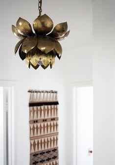 brass lotus chandelier