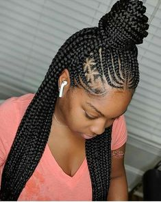 Beautiful Braids Hairstyles 2019 : Rock These Simply Gorgeous Hair IdeasHello ladies, these are trendy, stylish and most beautiful braids styles you need for a Box Braids Hairstyles, African Hairstyles, Girl Hairstyles, Black Cornrow Hairstyles, Stylish Hairstyles, Gorgeous Hairstyles, Black Girl Braids, Braids For Black Hair, Braids For Black Women Cornrows