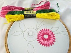 (81) Hand Embroidery | Flower Embroidery With Braid Stitch |Easy Flower Embroide... - #Braid #Easy #embroide #Embroidery #flower #Hand #stitch Basic Embroidery Stitches, Hand Embroidery Flowers, Hand Embroidery Tutorial, Embroidery Letters, Japanese Embroidery, Embroidery For Beginners, Hand Embroidery Patterns, Sewing Art, Sewing Crafts