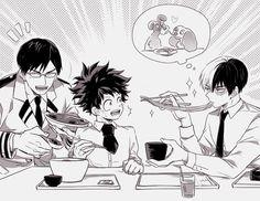 Boku no Hero Academia || Tenya Iida, Midoriya Izuku, Todoroki Shouto.