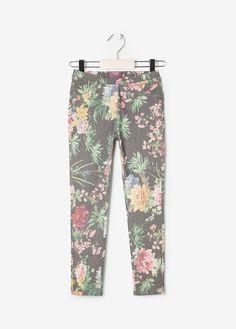 MANGO // NEW - Leggings mit Blumenmuster
