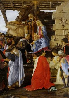 Sandro Botticelli  - Adoration of the Magi BIG High Quality Art Print Poster, Various sizes from A3, Art Reproductions Wall decor