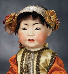 """""""The Voyage Continues"""" - Saturday, January 7, 2017: 198 German Bisque Character Portraying Chinese Baby, Model 243, by Kestner"""