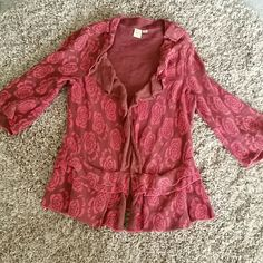 My favorite sweater cardigan Beautiful colors with two pockets. Wear open or closed. I will miss it but hoping someone gets more use out of it than I have. In perfect condition. 3/4 sleeves Anthropologie Sweaters Cardigans