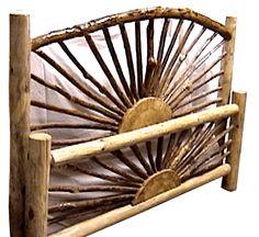 Rustic Wood Bed Frame, Rustic Wood Walls, Modern Wood Furniture, Log Furniture, Cheap Wood Flooring, Bed Frame And Headboard, Bed Frames, White Wood Kitchens, Wood Interior Design