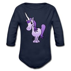 Purple unicorn baby one-piece. #unicorn #Spreadshirt #Cardvibes #Tekenaartje #SOLD