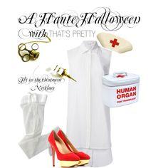 """A HAUTE HALLOWEEN || Naughty Nurse"" by thats-pretty-uk on Polyvore || #sexy #halloween #nurse #blood #ideas"