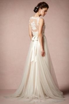 Onyx Gown - Anthropologie's BHLDN (Back)