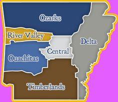 Regions of Arkansas