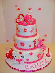 Hasil Gambar Untuk Kue Ulang Tahun Bertingkat 3 Hello Kitty Pink Kue Ulang Tahun Ulang Tahun Hello Kitty