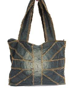 Vintage Denim Shoulder Bag $71.00
