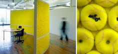 A Tennis Ball Wall