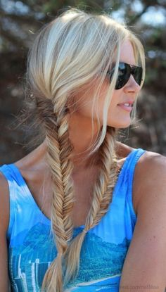 Cool And Must-Have Summer Hairstyles For Women; Must-Have Summer Hairstyles; Summer Hairstyles For Women; Fishtail Braid Hairstyles, My Hairstyle, Pigtail Hairstyles, Messy Fishtail, Perfect Hairstyle, Dance Hairstyles, Summer Hairstyles, Pretty Hairstyles, Trending Hairstyles