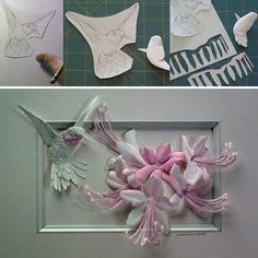 Paper sculpture: by Calvin Nicholls  http://www.calvinnicholls.com/