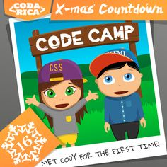 Cody Coder and Holly Hacker met in coding camp! Do you want your kids to attend code camp in 2015? Read a list of many coding camps across the US, Canada and Europe here: http://codarica.com/coding-camp-is-the-new-black/