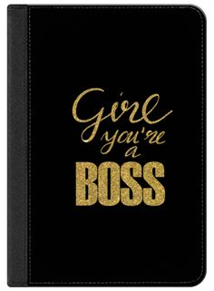 Casetify iPad Air 2 iPad Folio Case - Girl you're a Boss in gold by Psychae #Casetify