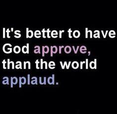 Gods approval