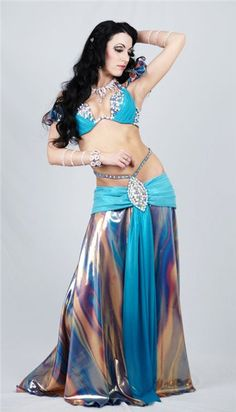 Belly Dance Costume/ Love the top of the skirt