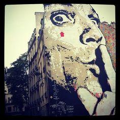 Chuuuut ! #StreetArt by #JefAerosol