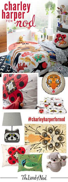 Go wild with our Charley Harper collection. It has everything you need to create the best animal themed kids room or nursery around.
