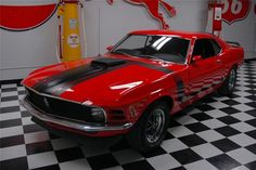 1970 CALYPSO CORAL FORD MUSTANG BOSS 302 FASTBACK