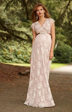 Eden Maternity Gown Long Blush - Maternity Wedding Dresses, Evening Wear and Party Clothes by Tiffany Rose.